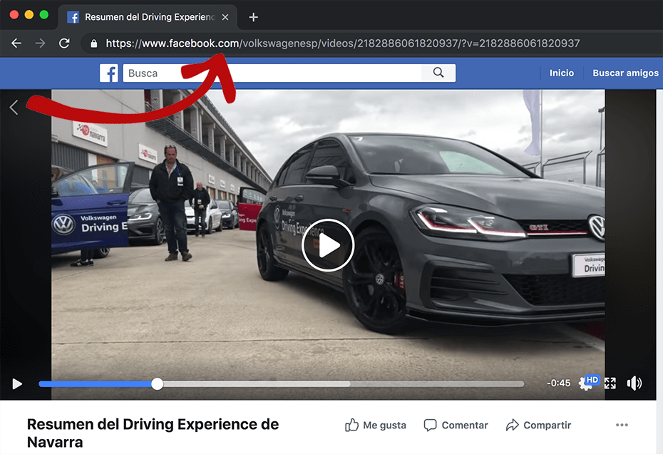 primer paso para descargar vídeos de facebook